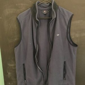 Men's Grey/Blue Vineyard Vines Zip Up Vest Medium